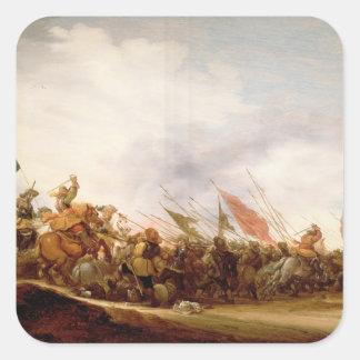 En stridplats, 1653 fyrkantigt klistermärke