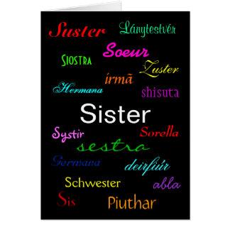 """""""En syster födelsedag"""" kort - anpassade"""