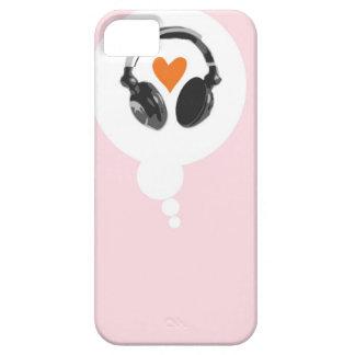 En tanke bubblar med en hjärta och hörlurar iPhone 5 skydd