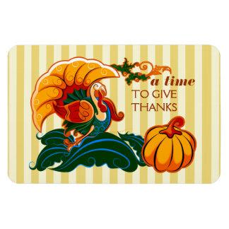 En Time som ger tack. Thanksgivinggåvamagneter Magnet