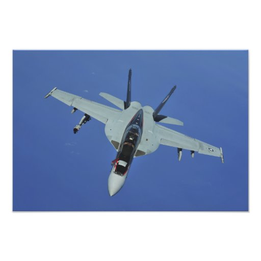 En toppen bålgeting för US-marin F/A-18F i flyg Fotokonst
