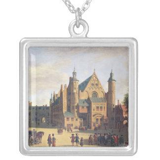 En Town kvadrerar i Haarlem Silverpläterat Halsband