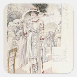 En townklänning, från 'Les Grandes funktionslägen Fyrkantigt Klistermärke