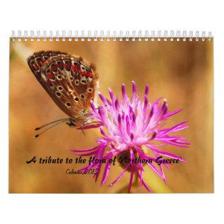 En tribute till flororna av nordliga Grekland Kalender