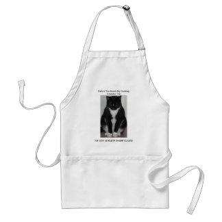 En tuff katt! seriePatchworkproduktioner Förkläde