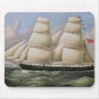 En två Masted Schooner av Dover (olja på kanfas) Musmatta