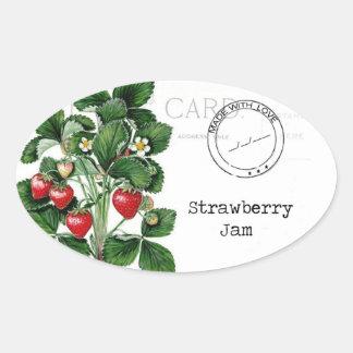 En underbar etikett som skräddarsy din jordgubbesy ovala klistermärken
