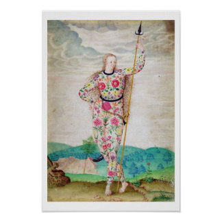 En ung dotter av Pictsen, c.1585 (w/c och gouen Poster