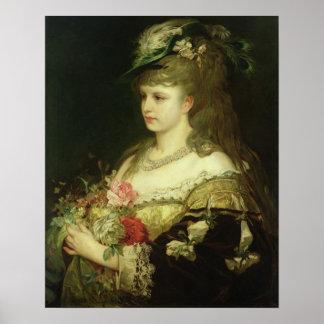 En ung flicka affisch