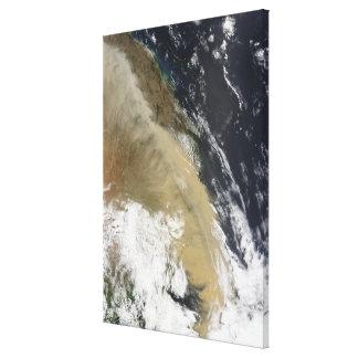 En vägg av dammar av sträckt från nordliga canvastryck