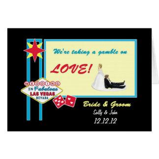 En vågspel på kort för KÄRLEKLas Vegas bröllop