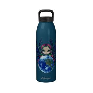En värld i brahänder flaska dryckflaska