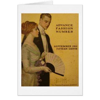 En vintagetidskrift täcker, Sept 1911 Hälsningskort