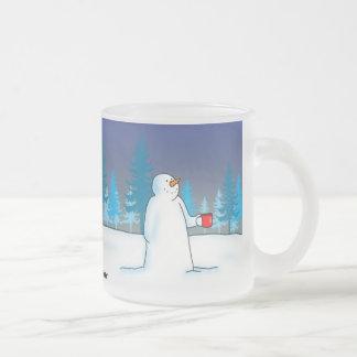 En vintervärmeapparat frostad glas mugg