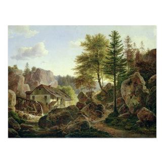 En Watermill i Vosgesna near Ribanville, 1836 Vykort