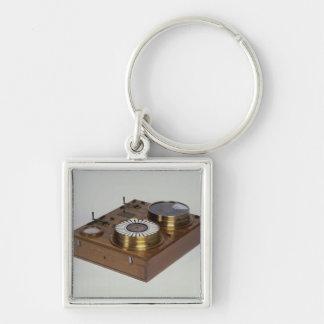 En Zeigertelegraph som produceras av Werner von Fyrkantig Silverfärgad Nyckelring