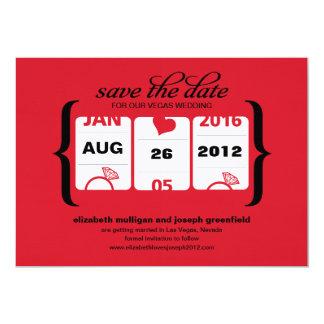 Enarmad banditspara datera - bröllop 12,7 x 17,8 cm inbjudningskort
