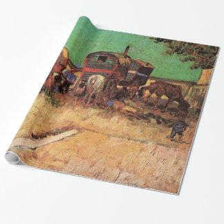 Encampment av zigenare med husvagnar, Van Gogh Presentpapper