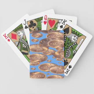 Encentmynt från himmel. spelkort