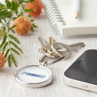 Encentmynt stil rund silverfärgad nyckelring