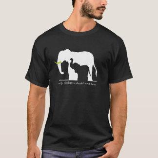 Endast elefanter bör ha på sig elfenben tshirts