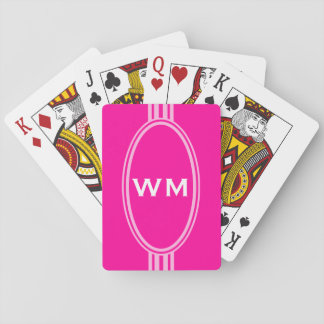 ENDAST FÄRGA/KNÄPPAS BANERvit + monogram Casinokort