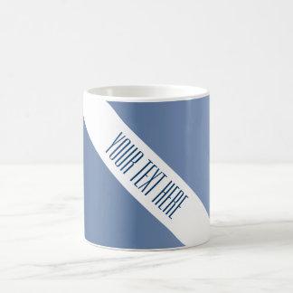 ENDAST FÄRGlutningblått + din text Kaffemugg