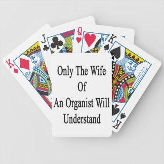 Endast förstår frun av en ska Organist Spelkort