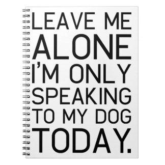 Endast förstår min hund anteckningsbok
