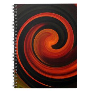 Energi av skapelsen anteckningsbok med spiral
