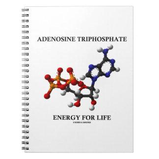 Energi för Adenosine (ATP)Triphosphate för liv Anteckningsbok Med Spiral