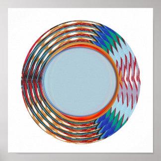 Energi fylld gnistra:  Vinkar cirklar färgrikt Poster