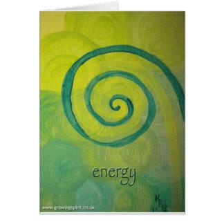 Energihjärtakonst Hälsningskort