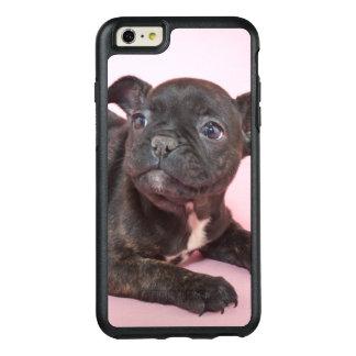 Enfaldig fransk bulldoggvalpredo som leker OtterBox iPhone 6/6s plus skal