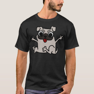 enfaldig mopshund tee