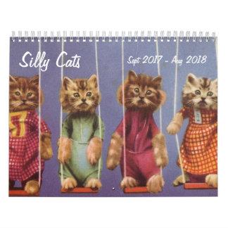 Enfaldiga katter och kattungar - Sept 2017 - Aug Kalender