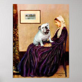 Engelsk bulldogg 9 - Whistler' s-mor Poster