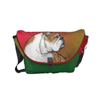 Engelsk bulldogg messenger bag