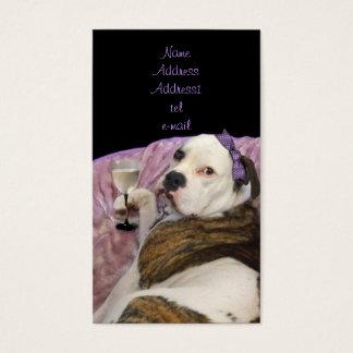 engelsk bulldoggevisitkort för olde visitkort