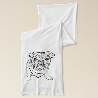 Engelsk bulldoggscarf sjal