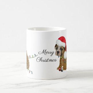 Engelsk bulldoggvalpjul kaffemugg