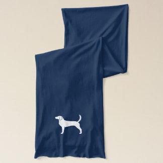 Engelsk Foxhound Silhouettte Sjal