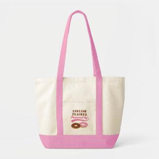 Engelsk läraregåva (Donuts) Tote Bags
