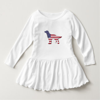 "Engelsk Setter - ""amerikanska flaggan "", T-shirt"