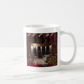 engelsk spis för tjurterrierjulklapp kaffemugg