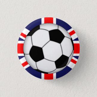 Engelsk sportig fotbollbollKlämma fastBaksida Mini Knapp Rund 3.2 Cm