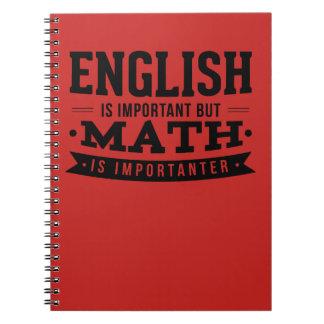 Engelska är viktigt, men Math är den Importanter Anteckningsbok