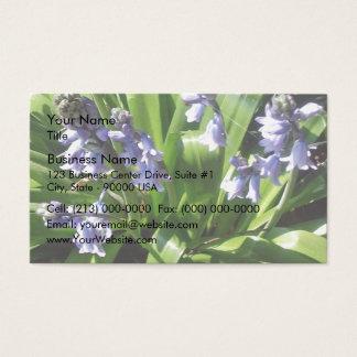 Engelska blåklockor visitkort