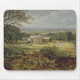 Engelska landskap med ett hus, det 19th århundrade musmatta