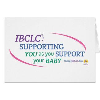 (Engelskt) kort för IBCLC®-daghälsning,